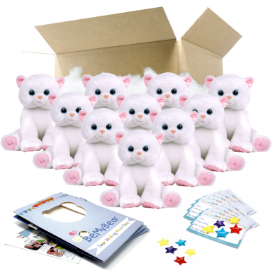 """Marshmallow Cat 16"""" Party Pack"""