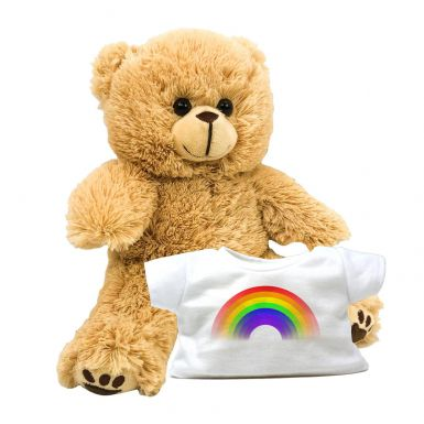 "8"" Charlie Bear & Rainbow Printed T-Shirt"