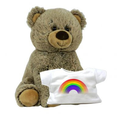 "8"" Griz Grizzly & Rainbow Printed T-Shirt"