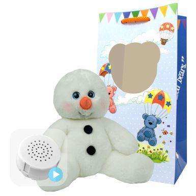 "Snowman 8"" Baby Heartbeat Bear"