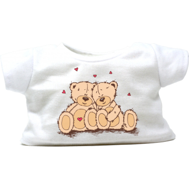 "Cuddling Teddy Bears 8"" T-Shirt"