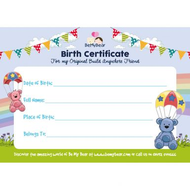 Birth Certificate (Be My Bear)