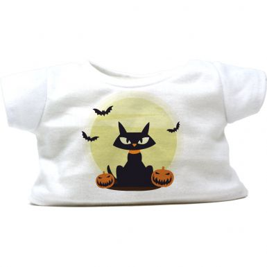 "Black Cat 16"" Halloween T-Shirt"
