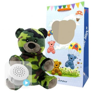 "Camo Bear 8"" Baby Heartbeat Bear"