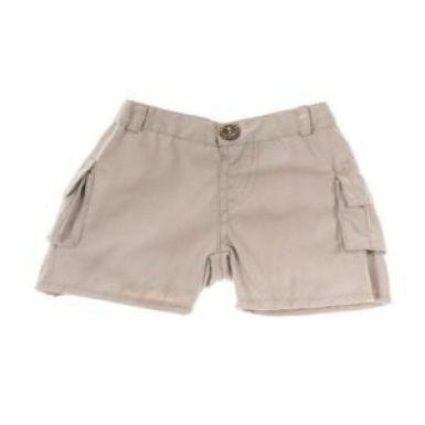 """Beige 16"""" Cargo Shorts"""