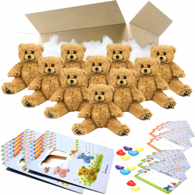 "Charlie Bear 8"" Party Pack"