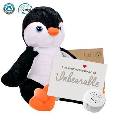 """Poppy Penguin 16"""" Message Bear"""