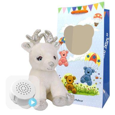 "Snowflake the Reindeer 8"" Baby Heartbeat Bear"