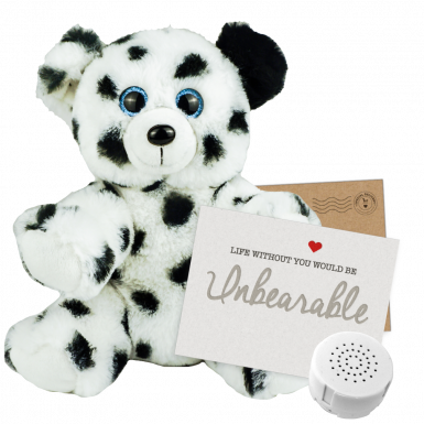 "Spot the Dalmatian 8"" Message Bear"