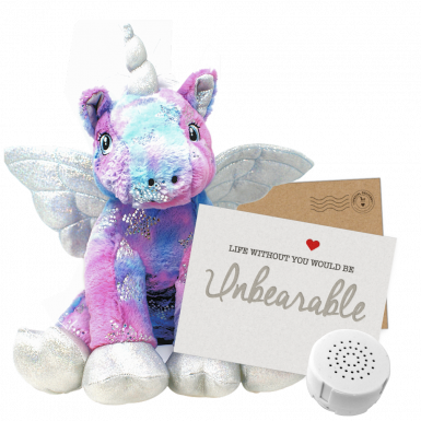 "Stardust Unicorn 16"" Message Bear"
