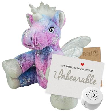 "Stardust Unicorn 8"" Message Bear"