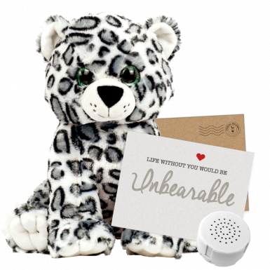 "Storm Snow Leopard 16"" Message Bear"
