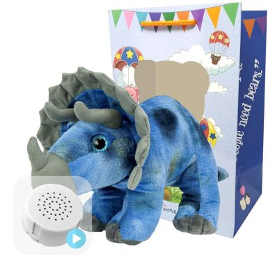 "Tricky The Triceratops 16"" Baby Heartbeat Bear"