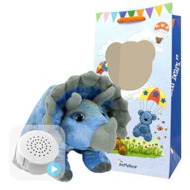 """Tricky The Triceratops 8"""" Baby Heartbeat Bear"""
