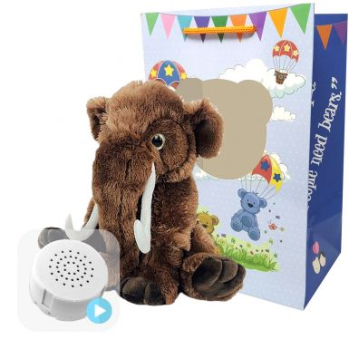 """Wollie The Woolly Mammoth 16"""" Baby Heartbeat Bear"""