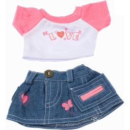 "Love t-shirt & Skirt 8"" Outfit"