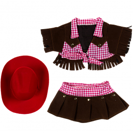 """Cowgirl With Red Hat 16"""" Outfit"""