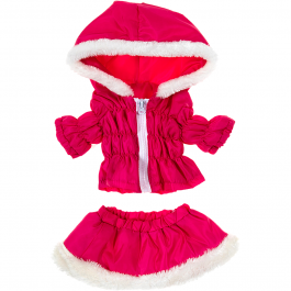 """Hot Pink Parka & Skirt 16"""" Outfit"""