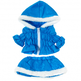 """Blue Parka & Skirt 16"""" Outfit"""