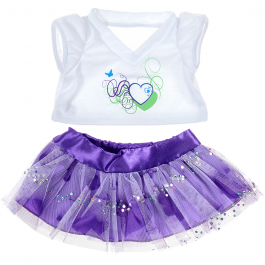 """Purple Hearts 16"""" Outfit"""