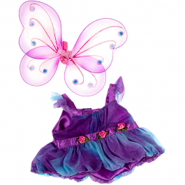 """Purple Fairy Butterfly 16"""" Outfit"""