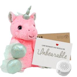 "Pinkie Unicorn 8"" Message Bear"