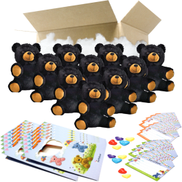"""Binx the Black Bear 8"""" Party Pack"""
