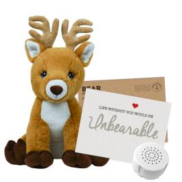"""Reindeer 16"""" Message Bear"""