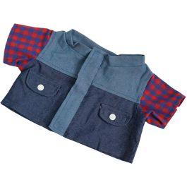 """Denim Plaid 16"""" Jacket"""