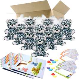 """Eira Snow Leopard 8"""" Party Pack"""