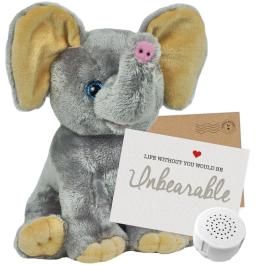 "Ellie Elephant 16"" Message Bear"