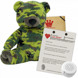 """Forces' Sweetheart 16"""" Message Bear"""
