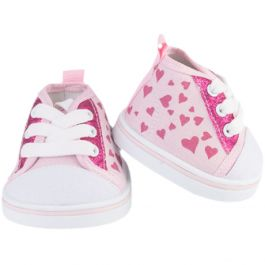 """Pink Hearts 16"""" Shoes"""