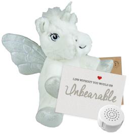 "Ice Unicorn 8"" Message Bear"