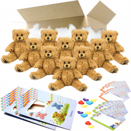 """Charlie Bear 8"""" Party Pack"""