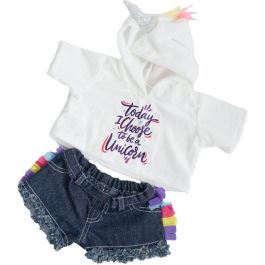 """Unicorn Hoodie & Shorts 16"""" Outfit"""