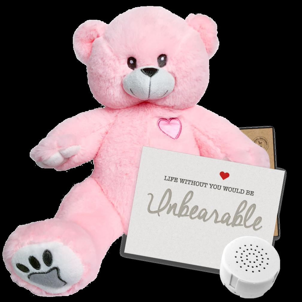"""Bubblegum 16"""" Message Bear"""