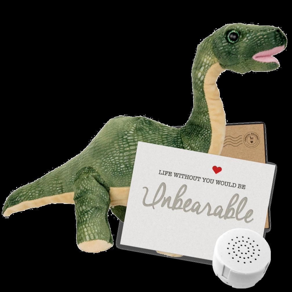 "Brontosaurus 8"" Message Bear"