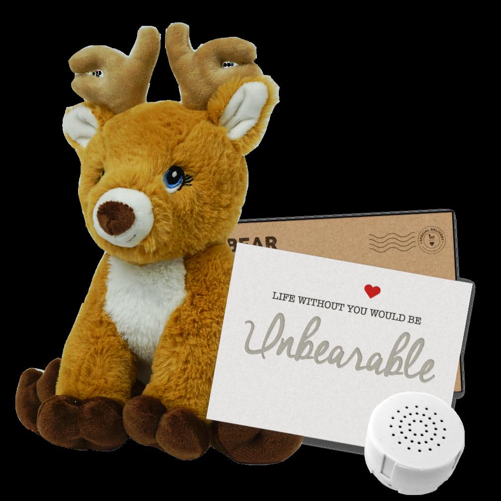 """Reindeer 8"""" Message Bear"""