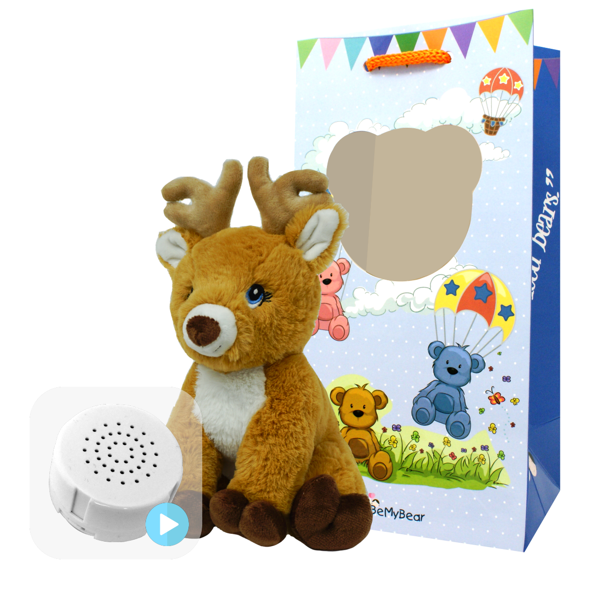 "Reindeer 8"" Baby Heartbeat Bear"