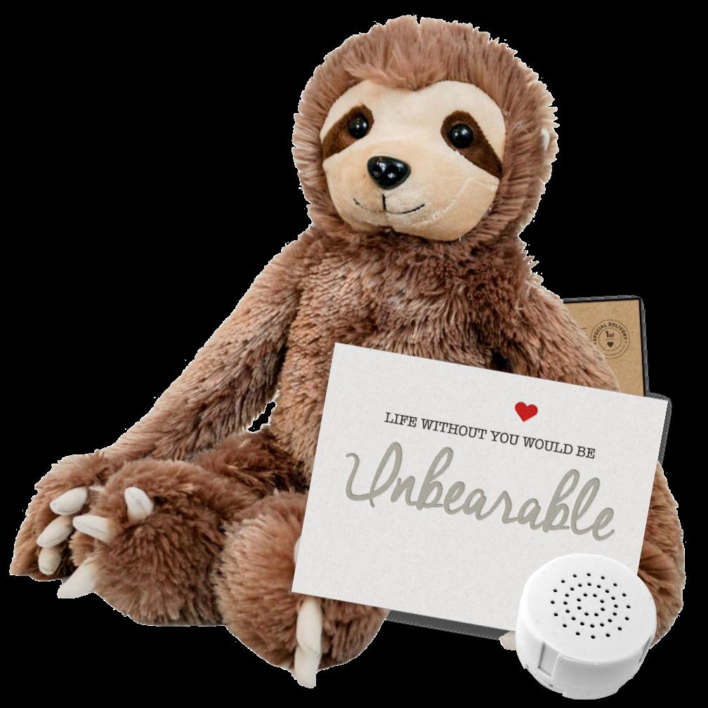"Sloth 16"" Message Bear"