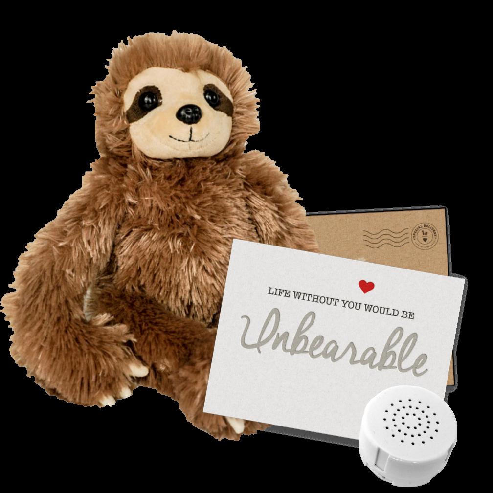 "Slumber the Sloth 8"" Message Bear"