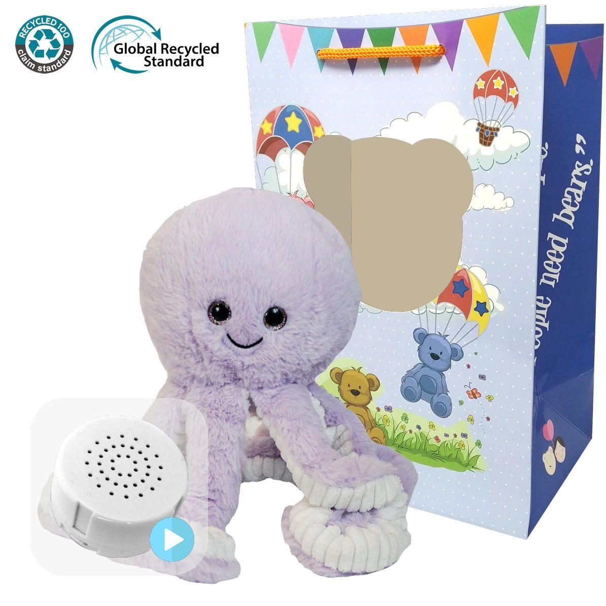 """Octopus Eco 16"""" Baby Heartbeat Bear"""