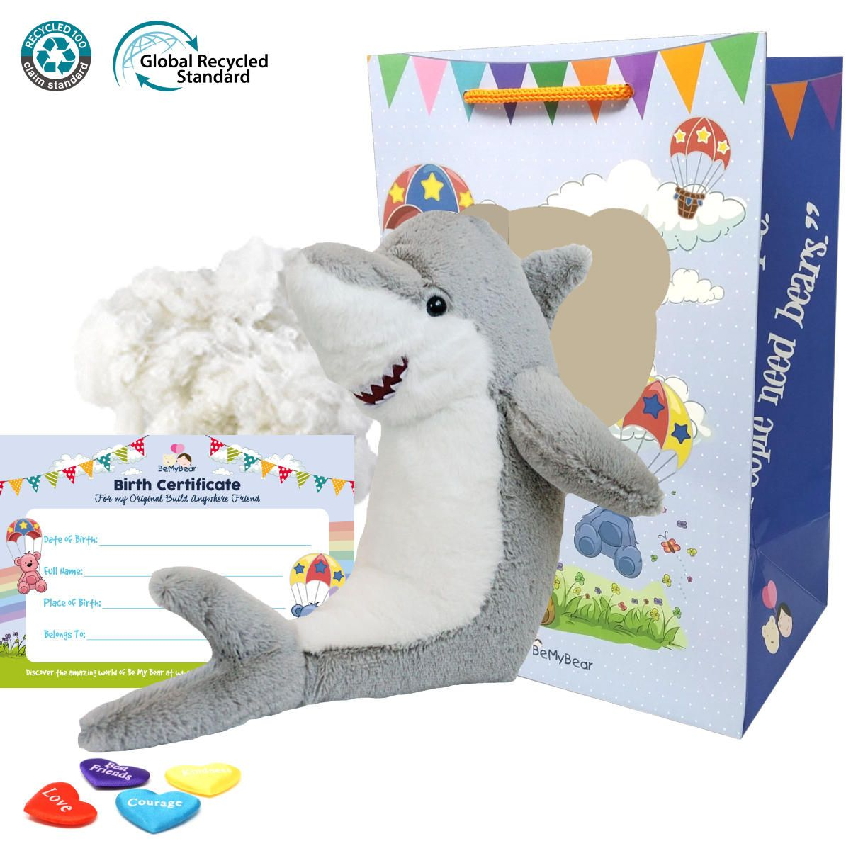 "Grey the Eco Great White Shark 16"" Animal Kit"