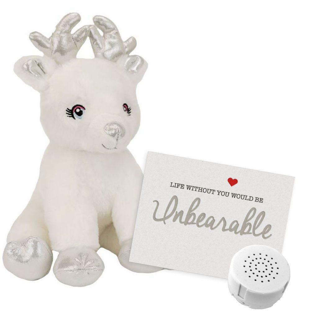 "Snowflake The Reindeer 8"" Message Bear"