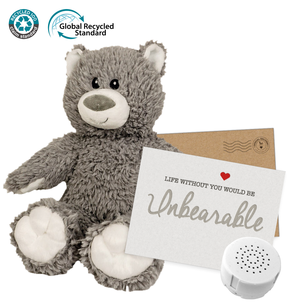 """Boon the Eco 16"""" Message Bear"""