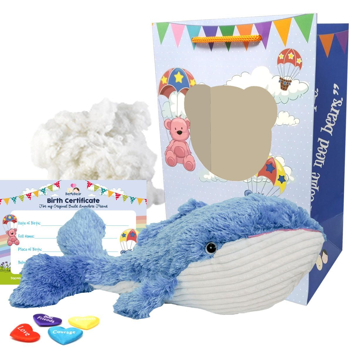 """Bowie the Blue Whale 16"""" Animal Kit"""